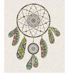 Decorative dream catcher vector
