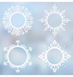 Decorative frames set vector image