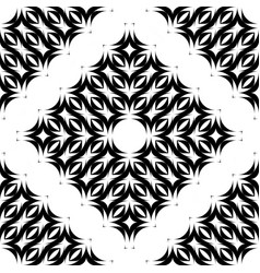 Design seamless monochrome waving decorative vector