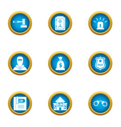 Dibs icons set flat style vector