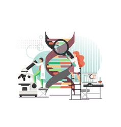 dna science lab flat style design vector image