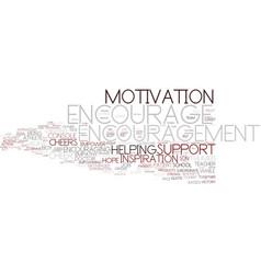 Encourage word cloud concept vector