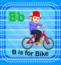 flashcard letter b is for bike vector image