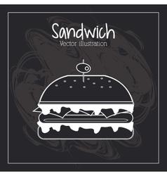 Food concept burger design vector