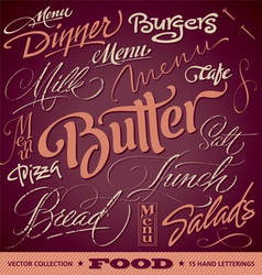 FOOD menu headlines set vector image