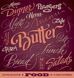 FOOD menu headlines set vector image vector image