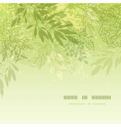 Fresh glowing spring plants square template vector