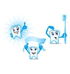 Funny Human teeth vector image