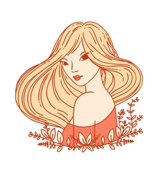 Girl portrait vector