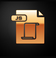 Gold js file document download js button icon vector