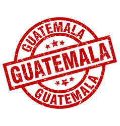 Guatemala red round grunge stamp vector