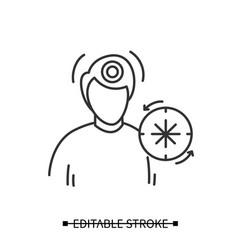 Headache icon man having chronic migraines vector