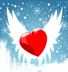 heart wing vector image