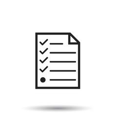 Hecklist icon flat document check sign symbol vector