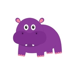 Hippopotamus cute cartoon charachter hippo vector