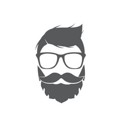 hipster icon on white background vector image