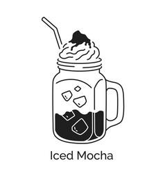 iced mocha coffee vector image