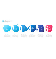 infographic template composed six vector image