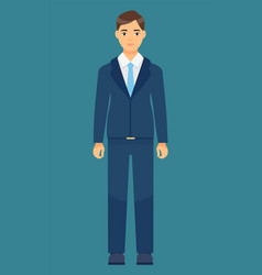 isolated cartoon character office worker man vector image