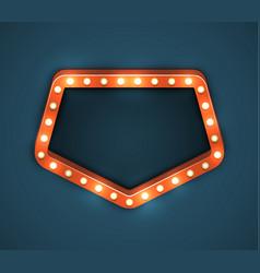 Light bulb frame marquee vector