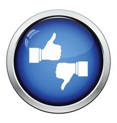 Like and dislike icon vector
