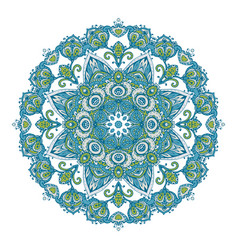 mandala pattern henna floral elements vector image