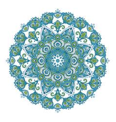 Mandala pattern henna floral elements vector