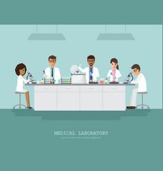 Medical science laboratory vector