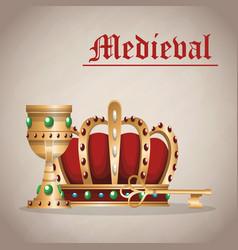 Medieval army emblem vector