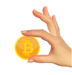 modern design concept of bitcoin cryptocurrency vector image
