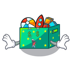 Money eye children toy boxes isolated on mascot vector
