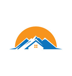 Mountain home logo image vector