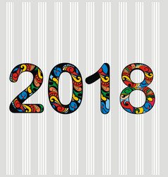 new year 2018 design vector image