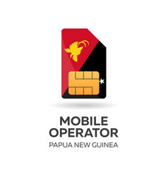 Papua new guinea mobile operator sim card with vector