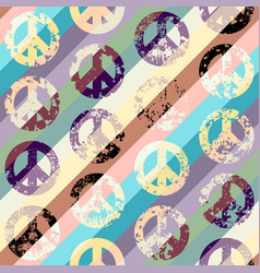 Peace signs pattern vector