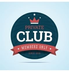 Private club badge vector image