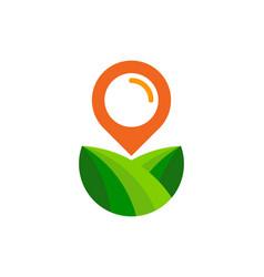 pushpin farm logo icon design vector image