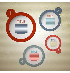 retro paper progress steps for tutorial vector image