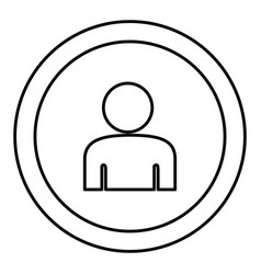 round symbol face person icon vector image