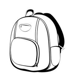 school backpack in black and white vector image