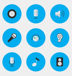 Set simple melody icons vector