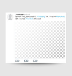 social photo frame transparent blank for vector image