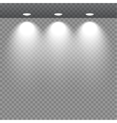 Spot lights showcas vector image