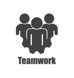 teamwork icon on a white background flat design vector image
