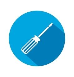 Tool icon Screwdriver turnscrew instrument vector image