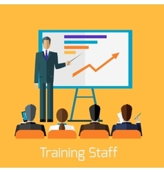 Training Staff Briefing Presentation vector image