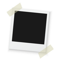 Vintage Photo Frame Sticked on Duct Tape to vector image
