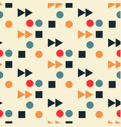Vintage play fast forward seamless pattern vector