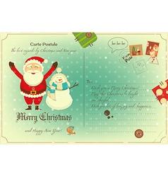 Vintage Postcard Christmas vector