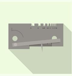 welder measurement hand tool icon flat style vector image